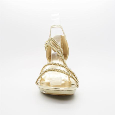 Bílé svatební sandálky, nízký podpatek, 37
