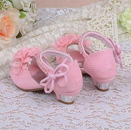 Bílé svatební sandálky pro družičky, 26-37, 31