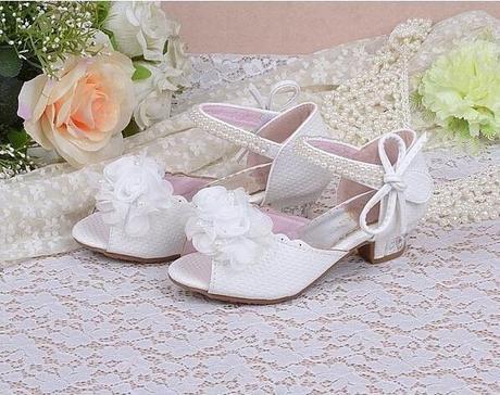 Bílé svatební sandálky pro družičky, 26-37, 32