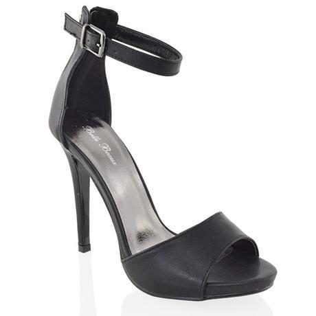 Bílé svatební sandálky, vysoký podpatek, 36-41, 36