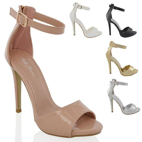 Bílé svatební sandálky, vysoký podpatek, 36-41, 38
