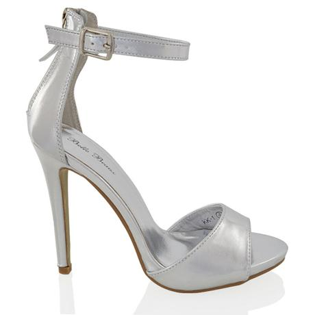 Bílé svatební sandálky, vysoký podpatek, 36-41, 40