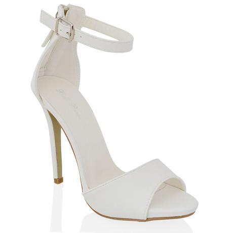 Bílé svatební sandálky, vysoký podpatek, 36-41, 41