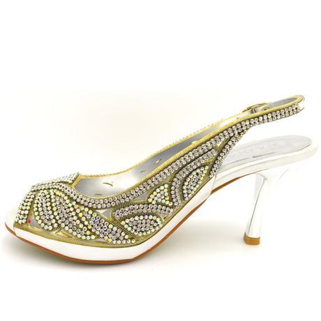 Bílé svatební, společenské sandálky, 36-41, 36