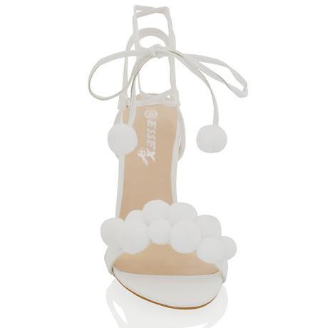 Bílé svatební, společenské sandálky, 36-41, 41