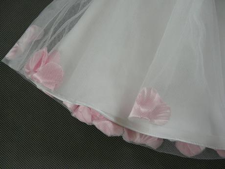 Bílo-růžové šaty na vítání občánků, svatby, půjčov, 68