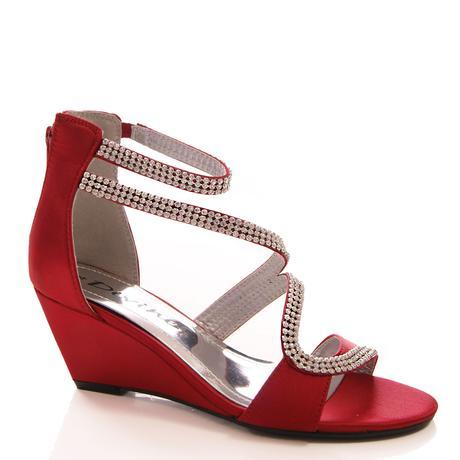 Burgundy saténové svatební, společenské boty, 36