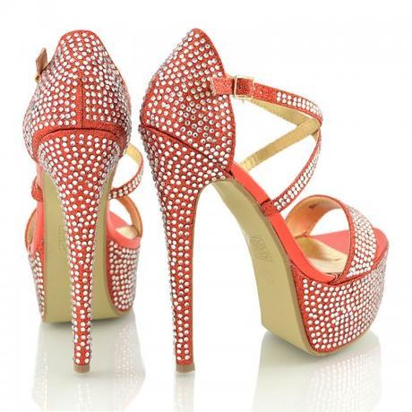 BW-1, extravagantní červené plesové sandálk, 36-41, 36