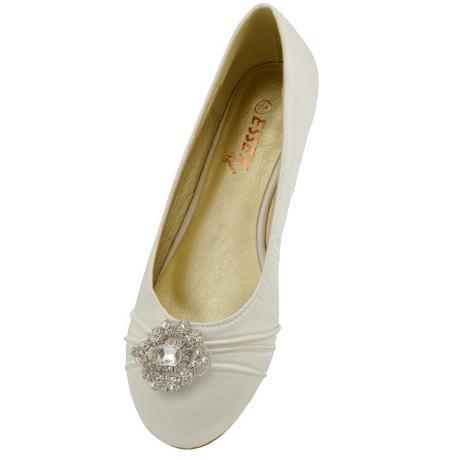 CAMILLA - ivory svatební balerínky, 36-41, 40