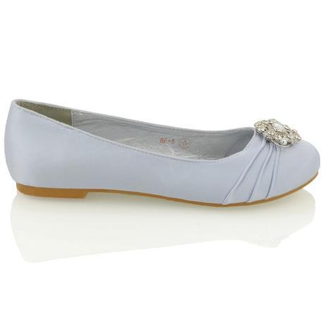 CAMILLA - stříbrné svatební balerínky, 36-41, 36