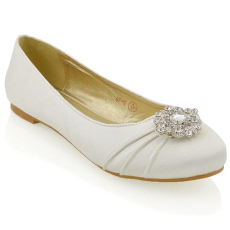 CAMILLA - stříbrné svatební balerínky, 36-41, 38