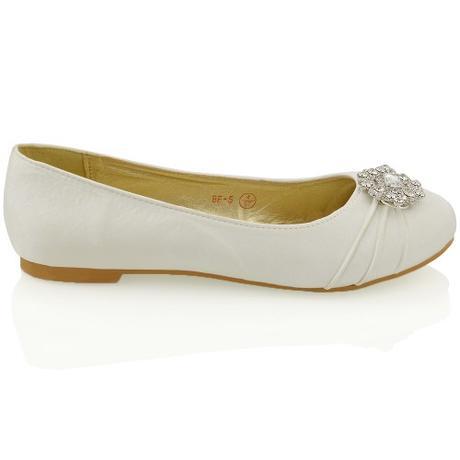 CAMILLA - stříbrné svatební balerínky, 36-41, 39