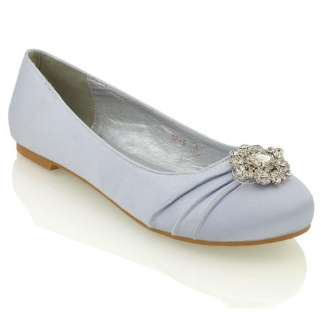 CAMILLA - stříbrné svatební balerínky, 36-41, 41