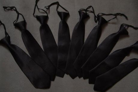 Černá dětská kravata, 128
