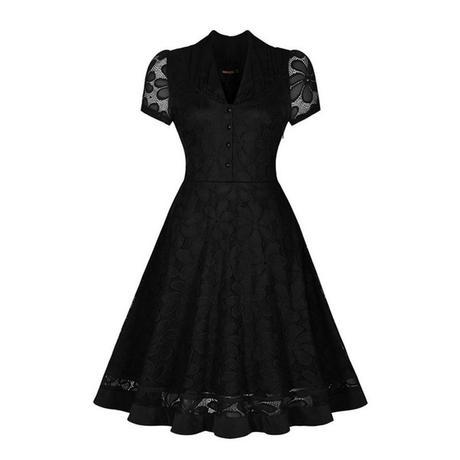 Černé krajkové šaty S-M, S