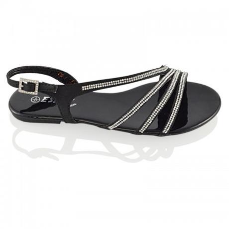 Černé plesové, plážové sandálky, 36-41, 40