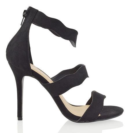 Černé plesové sandálky, 36-41, 36