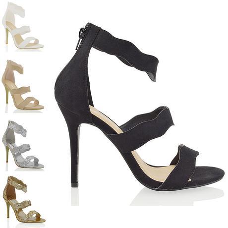 Černé plesové sandálky, 36-41, 38
