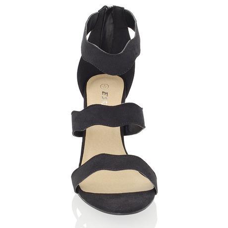 Černé plesové sandálky, 36-41, 39