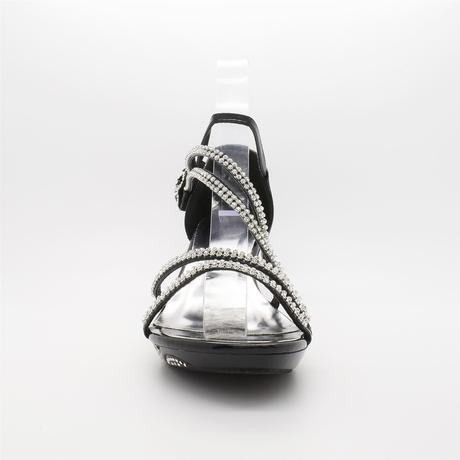Černé plesové sandálky, 36-41, 41