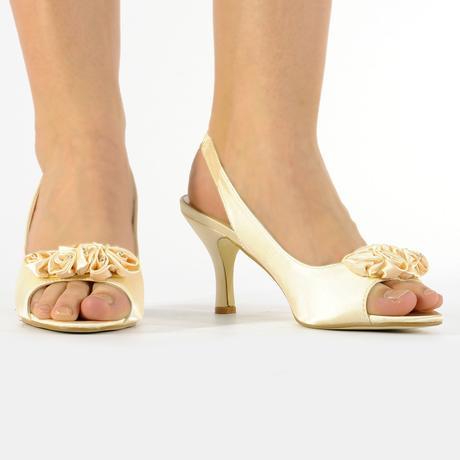 Černé saténové společenské sandálky, 36-41, 36