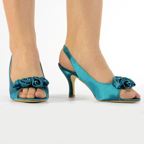 Černé saténové společenské sandálky, 36-41, 41