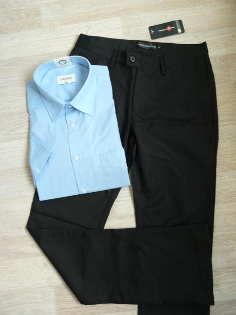 Černé společenské kalhoty - 14-16 let, 158