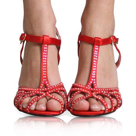 Černé společenské, plesové sandálky, 36-41, 38