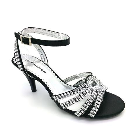 Černé společenské, plesové sandálky, 36-41, 40