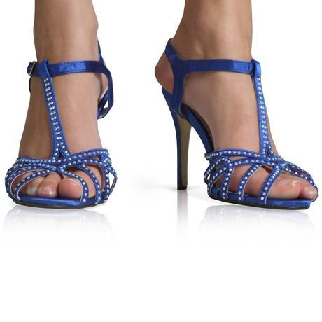 Černé společenské, plesové sandálky, 36-41, 41