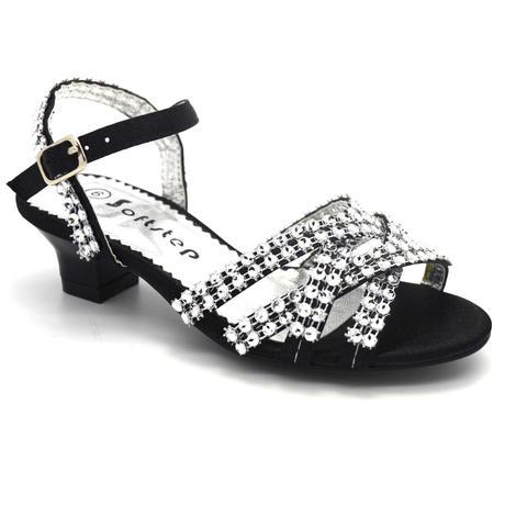 Černé společenské sandálky, 36, 36