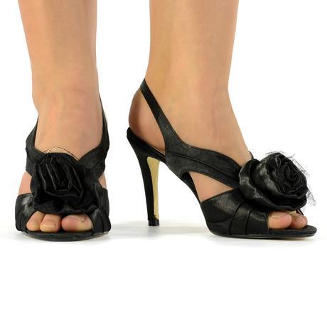 Černé společenské sandálky, 36-41, 38