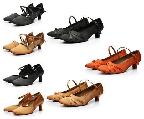 Černé taneční boty, střevíčky, 34-40, 35