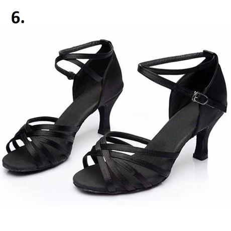 Černé taneční sandálky, 34-40, 34