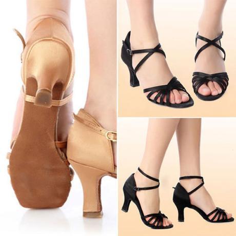 Černé taneční střevíčky, sandálky, 38,39,40, 40