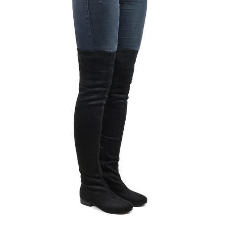 Černé vysoké elastické kozačky, 36-41, 36