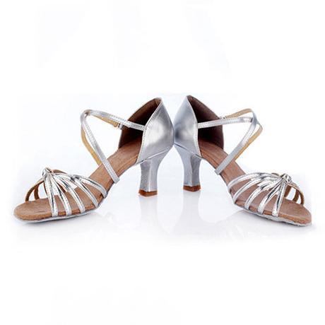 Černo-červené taneční střevíčky, sandálky, 35-41, 37