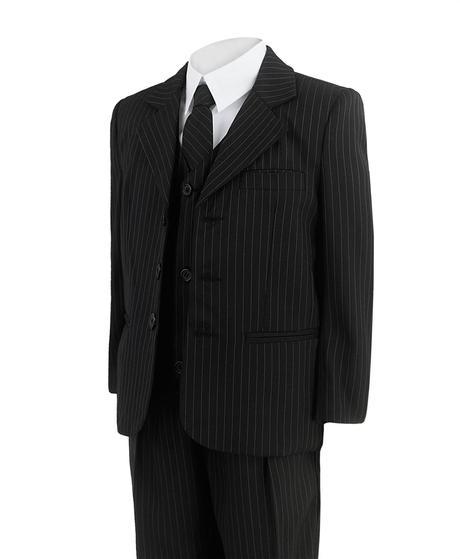 Černý proužkatý oblek - 3-4 roky, 104