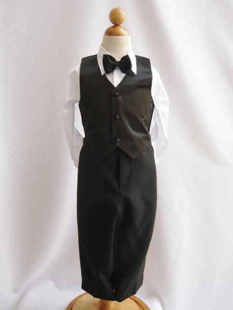 Černý společenský oblek, 0-20 let, 80