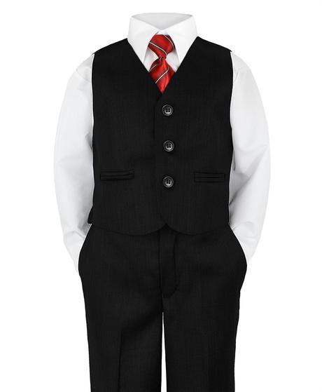 Černý společenský oblek - půjčovné, 1-2 roky, 86