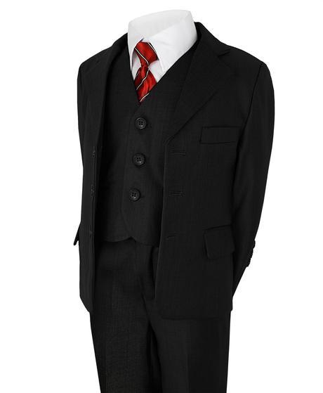 Černý společenský oblek - půjčovné, 9-10 let, 140