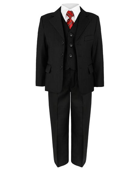 Černý společenský oblek - půjčovné, 9-10 let, 146