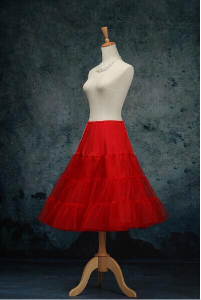Červená krátká spodnice, i pro družičky pod šaty,