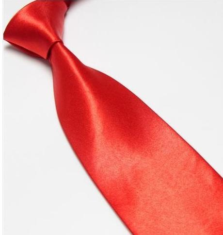 Červená pánská kravata, klasika,