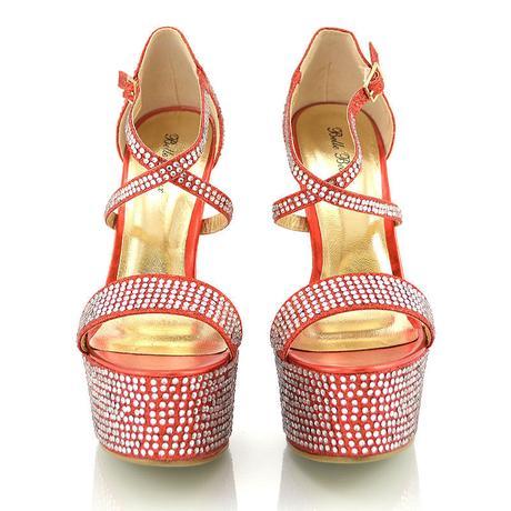 Červené extravagantní sandálky, 36-41, 36