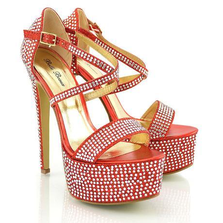Červené extravagantní sandálky, 36-41, 38