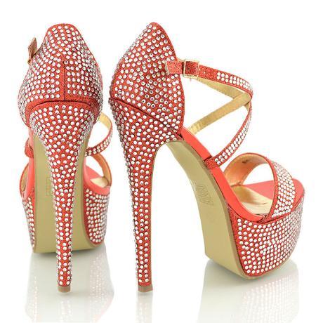 Červené extravagantní sandálky, 36-41, 40