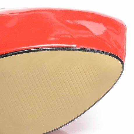 Červené lakované lodičky, extra vysoký podpatek, 39