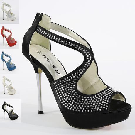 Červené saténové sandálky, vysoký podpatek, 41