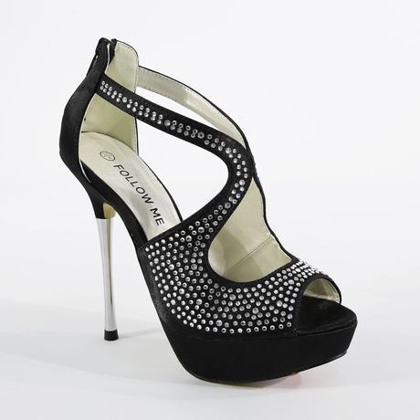 Červené společenské sandálky, 36-41, 38